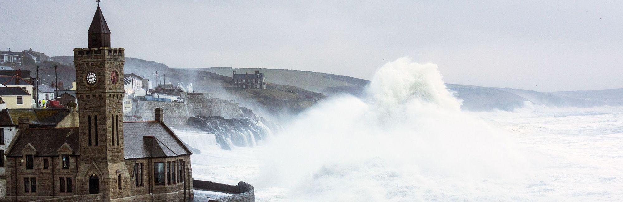 Porthleven storm