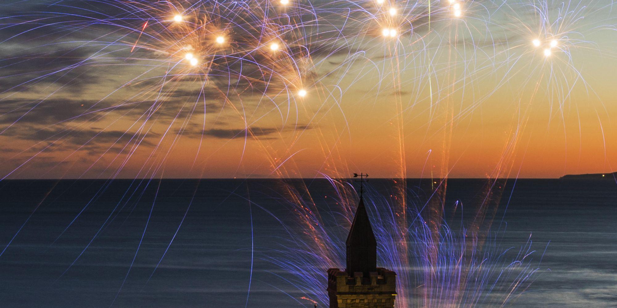Fireworks in Porthleven