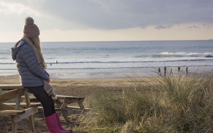 Winter beach - Poldhu - Porthleven Holiday Cottages