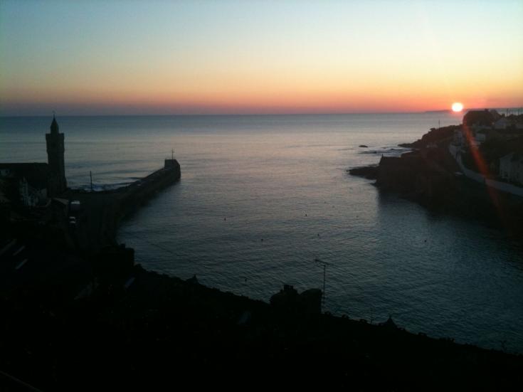 Porthleven Sunset from Atlantic Inn